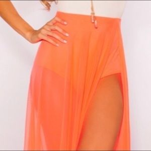 Kloset Envy Coral Bella Maxi Skirt  Orig. price$75